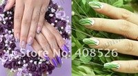 Free shipping 45 PCS Color Glitter Acrylic Powder Dust For Nail Art Tips Makeup Set 2056