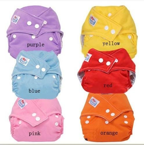 Whloesale  12  Pcs New healthy  High quality  Babyland 1 Size Cloth Baby Diaper 6 colors  Baby check urine pants  FREE shipping