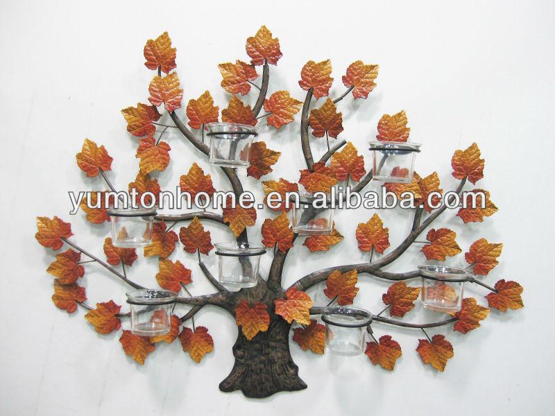 Pavo real de metal candelabros de pared decorativos-Soportes para ...