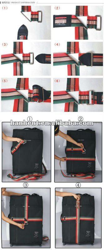 Etiqueta del equipaje de la correa HTL355B