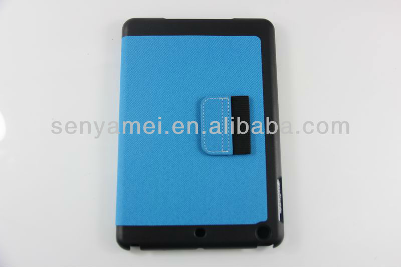 Manufacturer wholesale tablet case for ipad mini case leather with jeans line