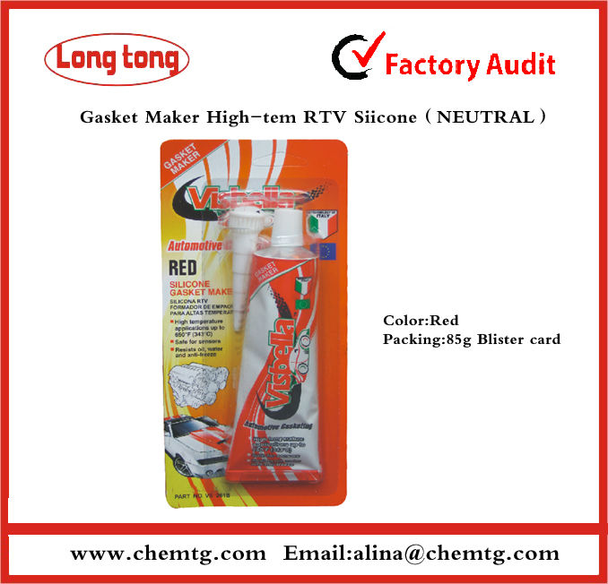 Neutral High temperature resistant red RTV SILICONE for Car