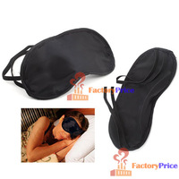 Аксессуары для сна FactoryPrice] Eye Mask Cover Shade Blindfold Sleeping Travel Black High Quality