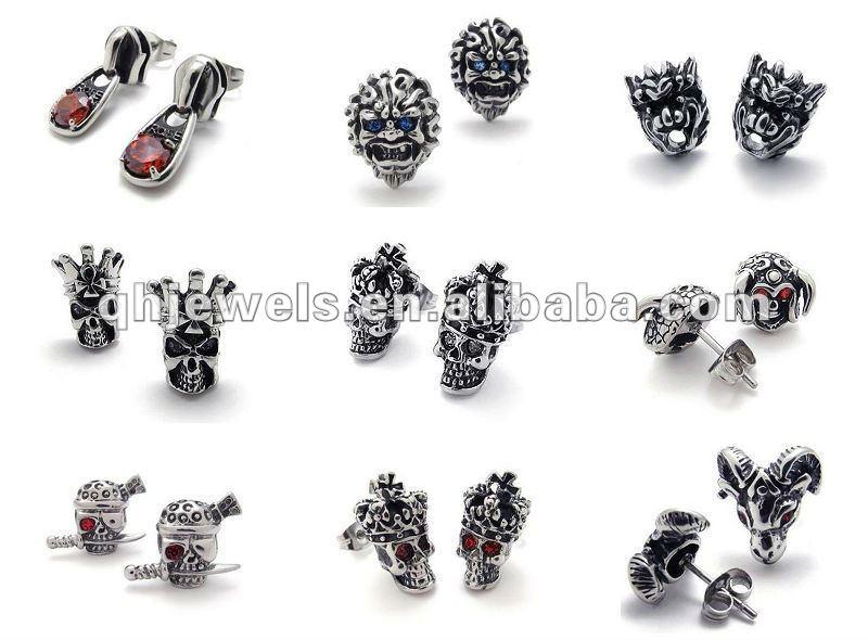Skull Earrings For Men