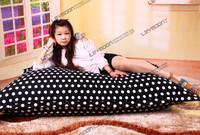 140 * 180 см черный цвет белая точка Бин мешок кресло 100% хлопок Бин мешок диван
