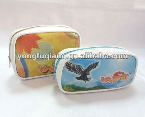 Yellow fashion pvc printing mobile phone carry bag
