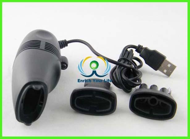 ... hitam plastik perumahan usb mini vacuum cleaner untuk pc keyboard laptop