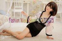 FREE SHIPPING Hot New Style LeisureWomen Fashion Long Sleeve Sexy Kimono/Robe Lingeries With Sleepwear+Belt