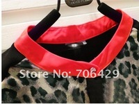 2012 Spring Sale Hot/ Leopard pattern long sleeve women's T-shirts wholesale 20pcs/lot