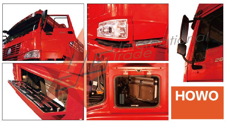 sinotruck howo 6X4 cooling van