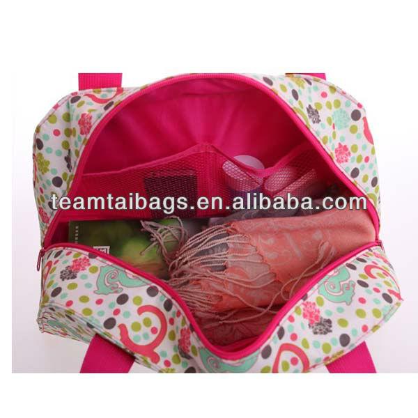 2013 lady floral cute girls travel duffel bags