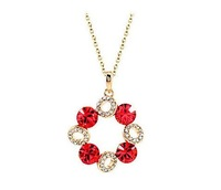 fashion jewelry 4005 The eternal promise crystal Necklace Made With Swarovski Elements ,Rhodium Plated ,Min order USD 10
