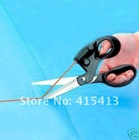 10 Pcs/Lot New Funny Free Shipping Wholesale Sewing Laser Scissors Cuts Straight Fast Laser Guided Scissors SL0345