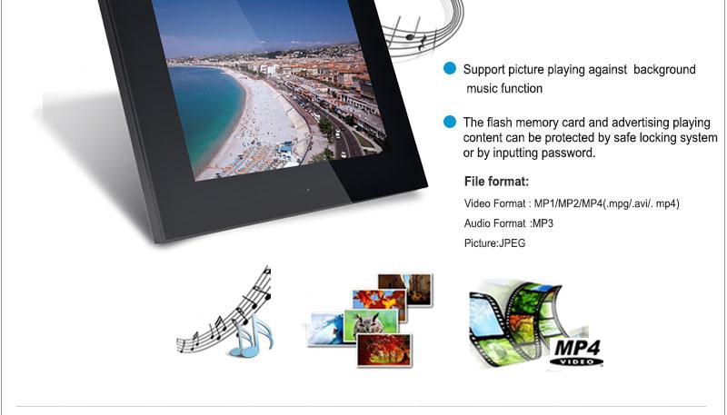 15 inch trendy christmas lcd digital media advertising photo frame