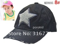 Free shipping In Stock 2012 New Children's baseball cap kids obey snapback caps,Baby Five-pointed star Hole hats,10 pcs/lot
