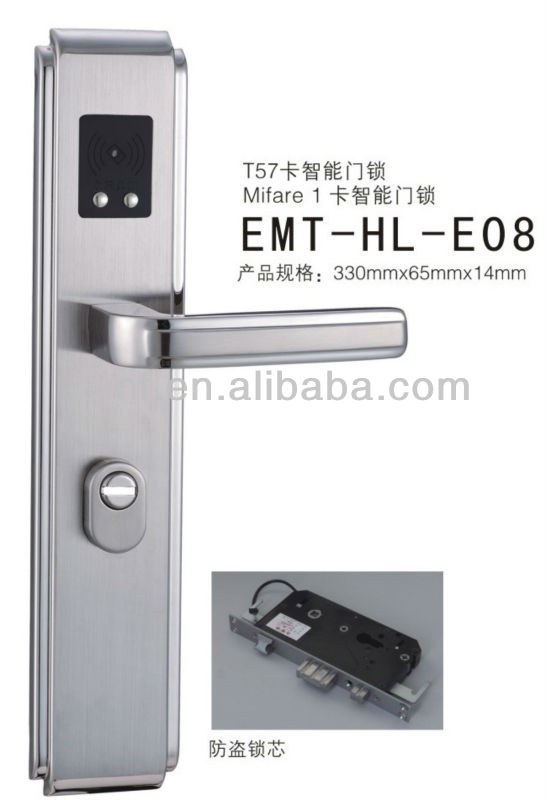 Hotel Room Security Digital Lock,Smart Card IC Lock, Door Lock Hardware (EMT-HL-E08)
