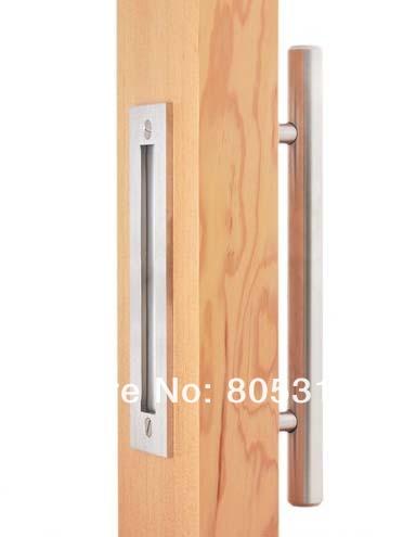 2018 Stainless Steel Barn Door Handle Pull&Wooden Sliding Door ...