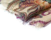 Fashion Begonia flower ink style Scarf, Collar shawl scarf dress decoration WJ003