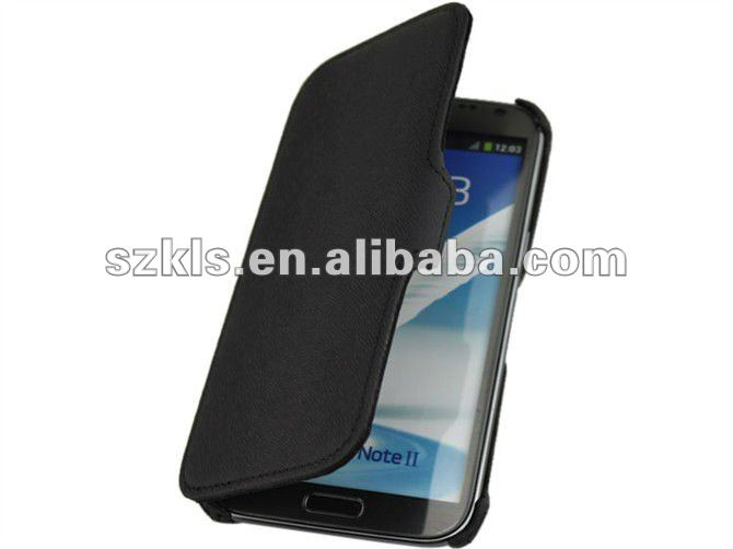 with stand leather case flip cover for samsung galaxy note2 II N7100