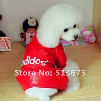 Free shipping 2012 New four legs warm Adidog pet clothes autumn and winter pet clothes Teddy pet costumes XXL Sizes