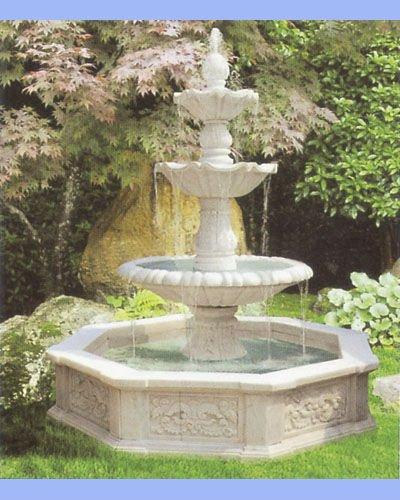 Chimeneas y cascadas marmoles y granitos la nueva industria - Fuentes de piedra natural ...