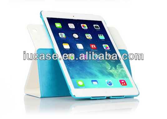 for ipad air leather case, custom for ipad air case, for ipad air rotating case factory support