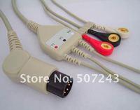 Различные разъемы и Клеммы One piece 3-lead ECG Cable with leadwires