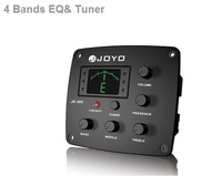 Аксессуары для гитары New JOYO JE-305 Guitar 4-Band Preamp EQ Tuner Pickup