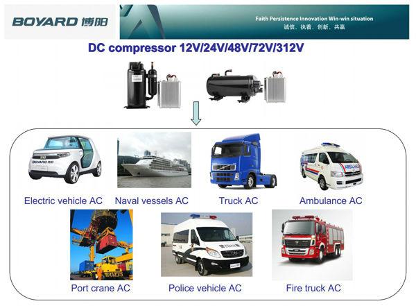 CE ROHS BLDC rotary compressor for 12v 24v dc air conditioner