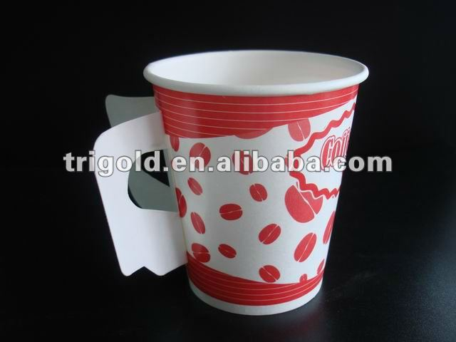 7oz hot paper coffee cup with handle