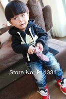 2013 New Design 100% Cotton Children Winter Coats Kids Sport Coat Baby Boys Winter Hoodies 5pcs/lot Free Shipping