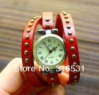 Наручные часы Genuine Cow leather fashion Punk Wrap Women watch.TOP quality
