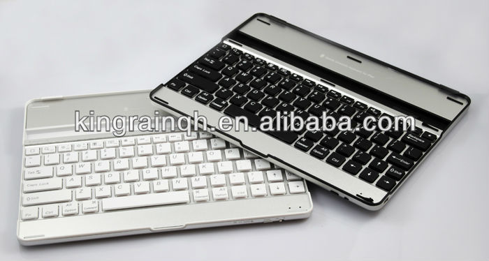 Aluminum bluetooth Keyboard with case for iPad 2 3 4
