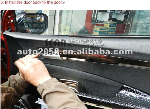 Smallest waterproof Led Door Courtesy Light With Car Logo