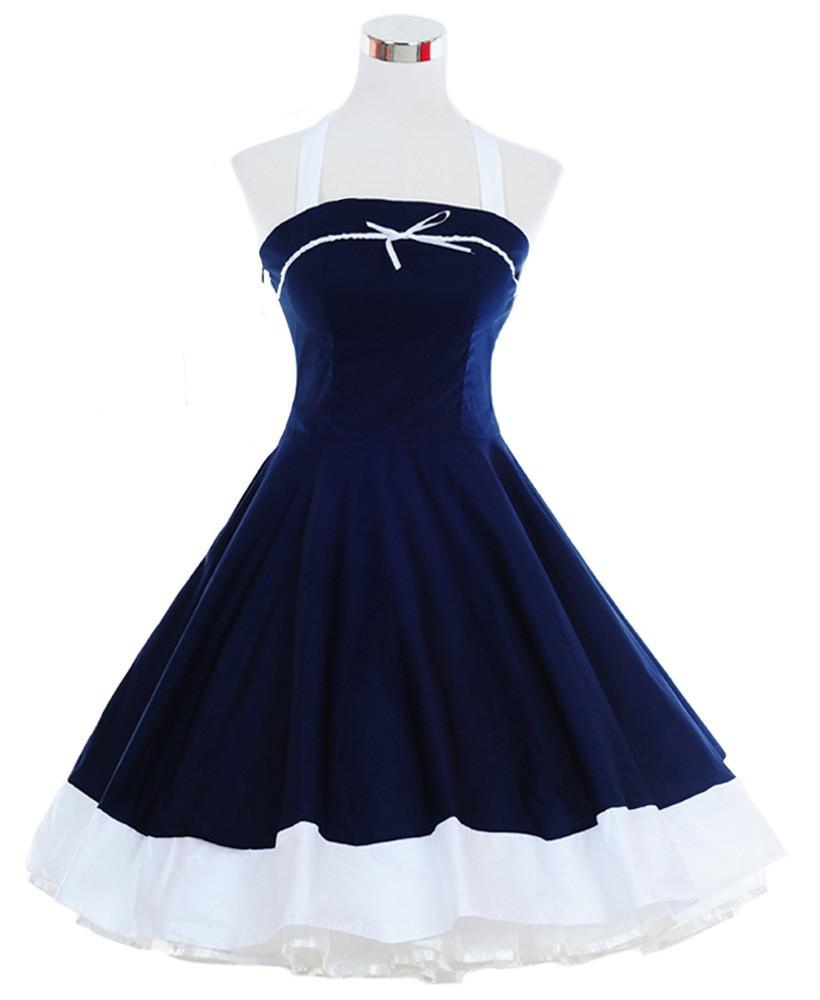 2016 Summer Audrey Hepburn Style 50s 60s Robe Vintage Big Swing Dress Women Casual Ball Retro Rockabilly Dresses Vestidos female