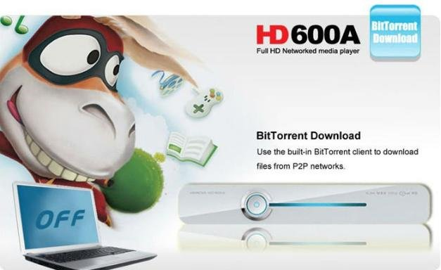 Hi Media HD600A HDD Media Player  HDMI Full 1080P HD H.264 MKV DTS Network Online TV  WiFi