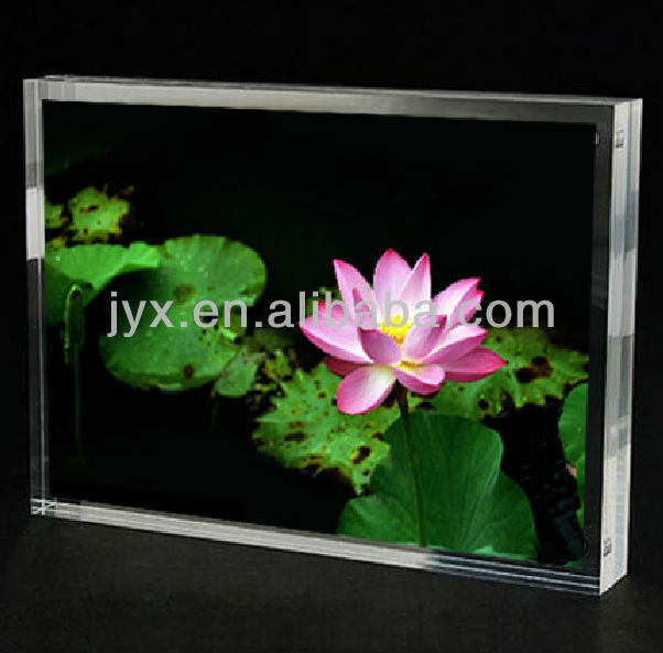 Customized size clear acrylic magnetic photo frames