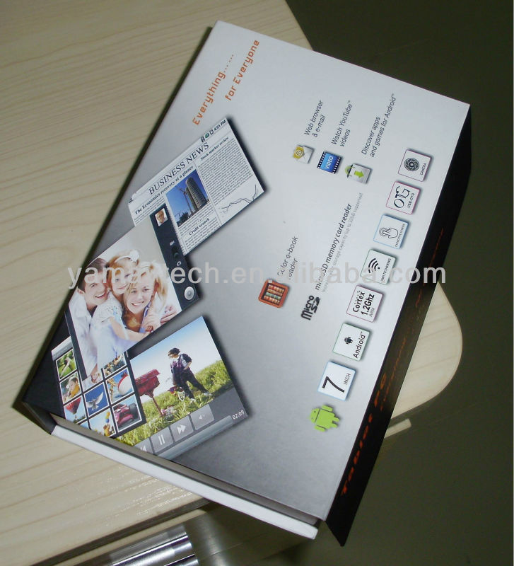 7 inch Allwinner A13 capacitive 4G Flash tablet with ethernet port