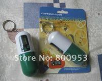 Таймер 500pcs/lot Capsule look Portable Timer Pill Medicine box Reminder Drug Box keychain