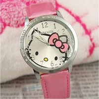 Наручные часы Hot selling 5 pcs s new High Quality Hello kitty Fashion Cute Lovely Girl woman lady Wrist Watches