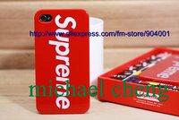 Чехол для для мобильных телефонов MOQ 1PC: Supreme Hard Back Plastic Case Cover for iPhone4 4g 4s