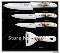 "Кухонный нож 4PCS 4"" 5"" 6"" inch Porcelain Handle Fruit Utility Chef Antibacterial Zirconia Ceramic Knife Set + Peeler Kitchen Knives"