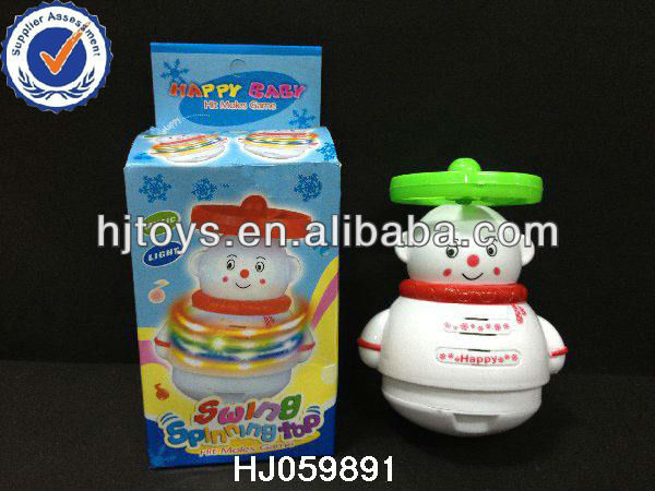 plastic top with music,promotional,spinning top