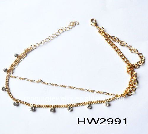 2014 the most popular crystal shoe jewelry chains sandals parts new design
