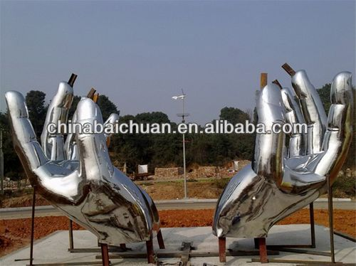 Stainless steel fountain sculpture