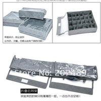 Бокс для хранения fee shipping 3in1 3pc/set foldable Bamboo Charcoal fibre storage bag box case organizer with cover bra, underwear, necktie, socks