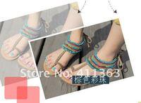 Женские сандалии Women's sandals Flats shoes fashion shoes Rome BKC-32