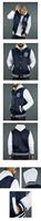 New winterm New York, NY, men's casual hooded waterproof layer stitching baseball uniform sweater free shipping