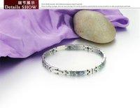 Браслет из нержавеющей стали fashion anti-fatigue energy magnetic bracelet for woman multicolor CZ diamond inlaid health care jewelry 3389
