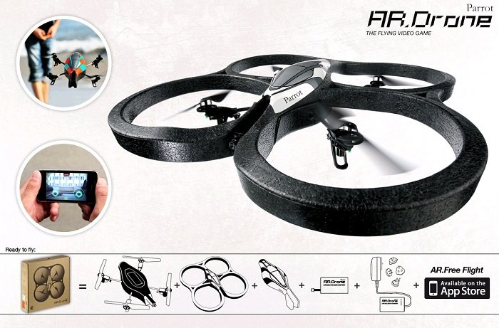 100% original parts Parrot AR.DRONE iphone/ipad rc spare parts accessories for rc UFO Iphone ipad